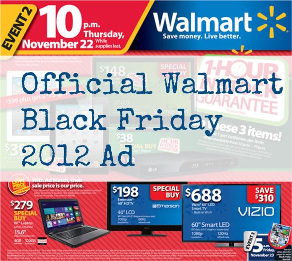 walmart black friday ad 2012