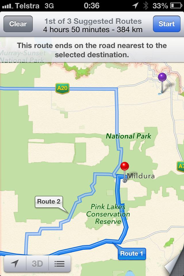 australia google map problem